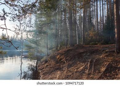 Karelia. Shuya river. Rafting.