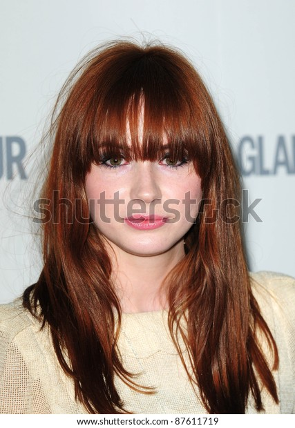 Karen Gillan arriving for the 2011 Glamour Awards, Berkeley Square, London. 07/06/2011 Picture by: Simon Burchell / Featureflash