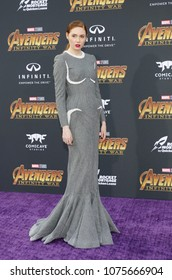 Karen Gillan at the premiere of Disney and Marvel's 'Avengers: Infinity War' held at the El Capitan Theatre in Hollywood, USA on April 23, 2018.