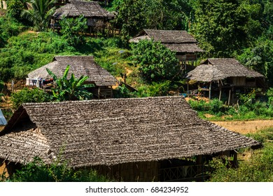 Karen hill tribe village Beautiful nature Sufficient lifestyle Tha Song Yang District, Tak Province, Thailand