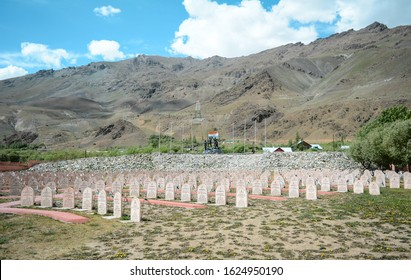 Kargil, Jammu / India - 18th June 2018 : I took this pictures at kargil war memorial which is situated in Kargil and is a must stop for every tourist.