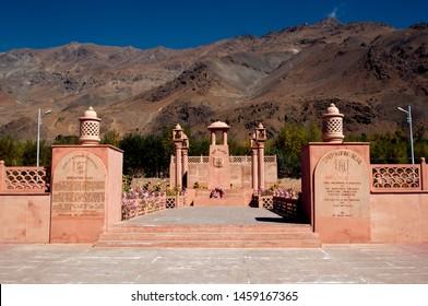 KARGIL, JAMMU AND KASHMIR, INDIA, 24 SEPTEMBER 2018 : Vijay Rath memorial, Symbol of Indian win in Kargil war 1999 (Operation Vijay), between Pakistan and India. Built in memory of Indian victory.