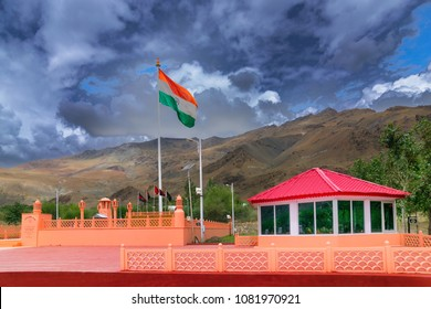 KARGIL, LADAKH, JAMMU AND KASHMIR / INDIA - SEPTEMBER 1ST 2014 : Vijay Rath memorial , symbol of Indian win in Kargil war 1999 (Operation Vijay), between Pakistan and India.
