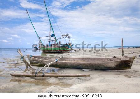 Karimunjawa Fishing Boats Indonesia Two Indonesian Stock Photo Edit