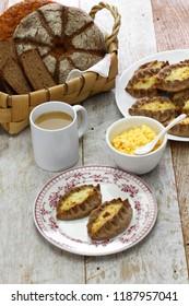 karjalanpiirakka ja munavoi, karelian pie and egg butter, finnish food, finland breakfast