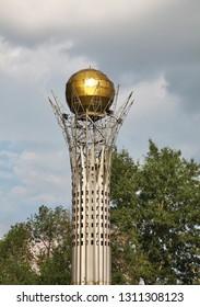 KARKARALINSK. KARAGANDA OBLAST. KAZAKHSTAN. 07 JUIY 2016 : Bayterek monument in Karkaralinsk. Karaganda Oblast. Kazakhstan