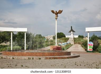 KARKARALINSK. KARAGANDA OBLAST. KAZAKHSTAN. 09 JUIY 2016 : War Memorial in Karkaralinsk. Karaganda Oblast. Kazakhstan