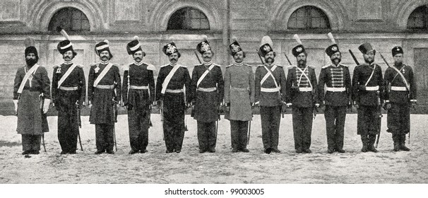 """Karl Bulla """"Century of the Life Guards Cossack hundreds.""""  Published in magazine """"Niva"""", publishing house A.F. Marx, St. Petersburg, Russia, 1899"""