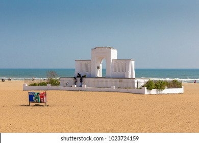 Karl Schmidt Memorial at Elliot's Beach, Chennai, Tamil Nadu, India