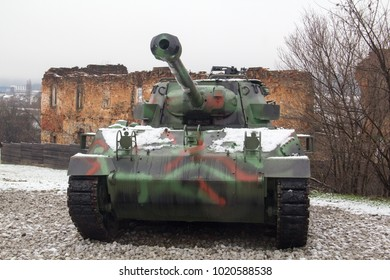 KARLOVAC, CROATIA - JANUARY 20, 2018: An M18 Hellcat gun motor carriage at Turanj Military Complex, part of the Karlovac City Museum