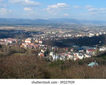 Karlovy Vary bird's eye view