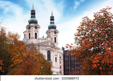 Karlovy Vary, Church of Mary Magdalene in Czech Republic.