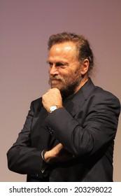 KARLOVY VARY, CZECH REPUBLIC  JULY 6, 2014: Actor Franco Nero present the film Obsessive Rhythms (Cadences obstinees) at Karlovy Vary International Film Festival