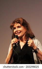 KARLOVY VARY, CZECH REPUBLIC  JULY 6, 2014: Filmmaker Fanny Ardant present the film Obsessive Rhythms (Cadences obstinees) at Karlovy Vary International Film Festival