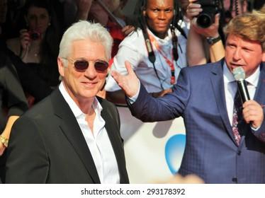 KARLOVY VARY, CZECH REPUBLIC JULY 6, 2015: Famous Actor Richard Gere received the Crystal Globe at Karlovy Vary International Film Festival