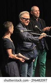 KARLOVY VARY, CZECH REPUBLIC JULY 10, 2015: American Actor Harvey Keitel attended the closing awards ceremony of the 50th Karlovy Vary International Film Festival.