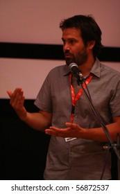 KARLOVY VARY - JULY 4: Director José Mari Goenaga attends the screening for 80 days (80 Egunean) at the International Film Festival Karlovy Vary on July 4, 2010 in Karlovy Vary, Czech Republic