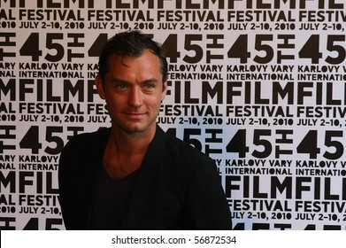 KARLOVY VARY - JULY 5: Actor Jude Law introduces The Talented Mr. Ripley at the International Film Festival Karlovy Vary on July 5, 2010 in Karlovy Vary, Czech Republic