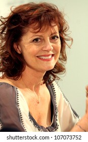 """KARLOVY VARY - JULY 6: Famous actress Susan Sarandon arrived to present the film """"Jeff, Who Lives at Home"""" at the International Film Festival, Karlovy Vary on July 6, 2012, Czech Republic"""