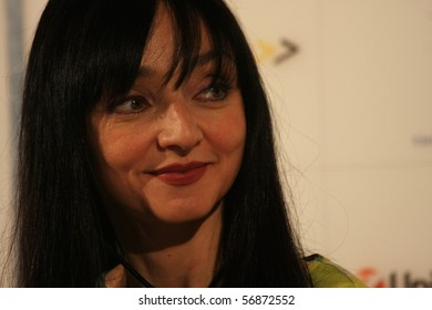 KARLOVY VARY - JULY 7: Actress Maria de Medeiros attend a press conference at the International Film Festival Karlovy Vary on July 7, 2010 in Karlovy Vary, Czech Republic