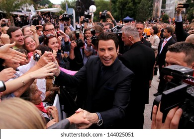 "KARLOVY VARY - JUNE 28: Famous actor John Travolta arrived to present the film ""Killing Season"" at the International Film Festival, Karlovy Vary on June 28, 2013, Czech Republic"