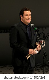 KARLOVY VARY, JUNE 28: John Travolta top Hollywood stars pick up a Crystal Globe lifetime achievement award at Friday's opening of the film festival, Karlovy Vary on June 28, 2013, Czech Republic