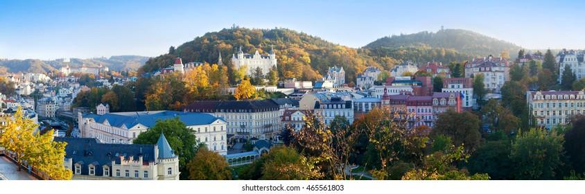 Karlovy Vary. Panorama of the city.