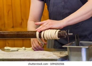 Karlovy Vary-May 19, 2018: handmade, national cuisine, production of tradesmen