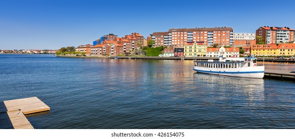 Karlskrona city architecture - sea bay view