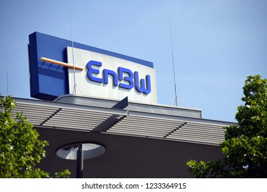 Karlsruhe, Baden-Wuerttemberg / Germany - May 18, 2018: EnBW headquarters in Karlsruhe, Germany - EnBW is a publicly traded electric utilities company