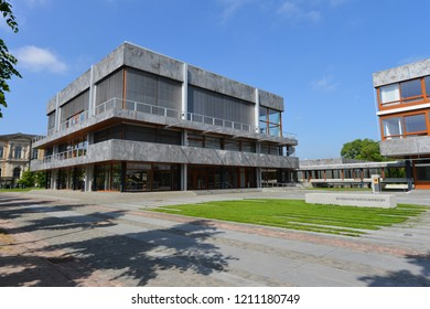 Karlsruhe, Baden-Wurttemberg / Germany - May 18, 2018: The Supreme constitutional Court of The Federal Republic of Germany - located in Karlsruhe, Germany