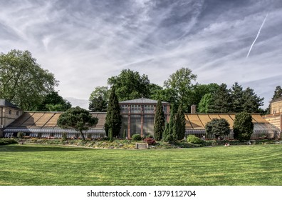 Karlsruhe, Germany - 04/28/2018: The image shows the botanical garden in Karlsruhe, Germany.