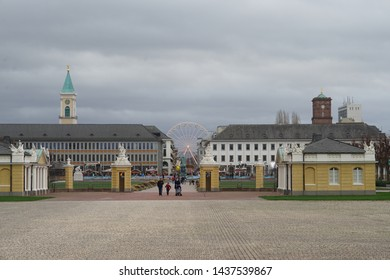 karlsruhe, Germany. 09.12.2018 The palace in karlsruhe