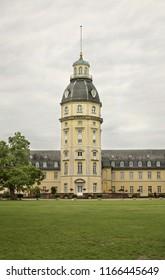 KARLSRUHE. GERMANY. 24 JUNE 2009 :   Karlsruhe Palace and park. Germany