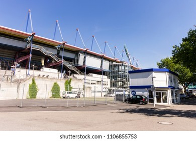 KARLSRUHE, GERMANY - August 6, 2015: The Wildparkstadion, a football stadium home of the football club Karlsruher SC