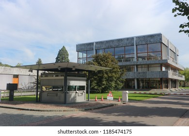Karlsruhe, Germany, September 9th 2018, Building of the  Federal Constitutional Court (Bundesverfassungsgericht). The building was constructed between 1965-1969.