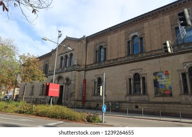 Karlsruhe, Germany, September 9th 2018, State Art Gallery in the City of Karlsruhe in Germany. The museum opened in 1846.