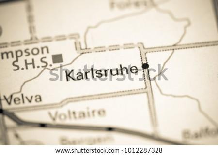 Karlsruhe North Dakota USA On Map Stockfoto (Jetzt bearbeiten ...