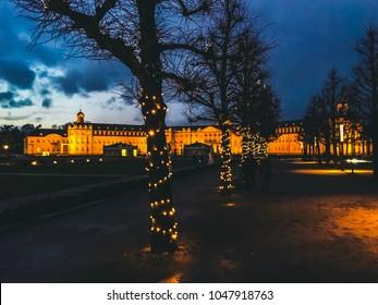 Karlsruhe Schloss Nacht Weihnachten