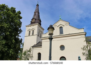The Karlstad Cathedral or Domkyrka, built in the years 1723 to 1730. In Karlstad, Eastern Sweden, located not far from Oslo, Norway.