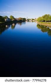 Karlstad city with river klaralven running through