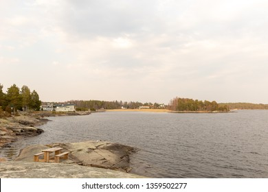 Karlstad, Värmland /Sweden april 4 2019: Skutberget, sports and recreation area close to the city of Karlstad. Plans for opening a Moomin world here despite a strong oppostion against it.