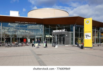 Karlstad, Sweden - March 17, 2014: The main entrance to the university of Karlstad.