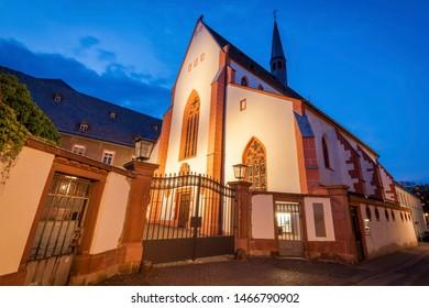 Karmeliterkloster Mainz at evening. Mainz, Rhineland-Palatinate, Germany.