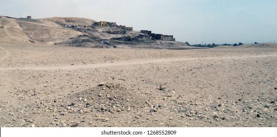 Karnak, Luxor/Egypt - 02/17/2013: The Valley of the Queens near Karnak, Luxor, Egypt