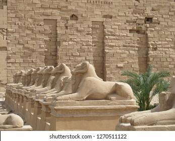 Karnak, Luxor/Egypt - 05/20/2013: The Karnak temple complex