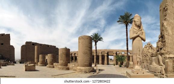 Karnak, Luxor/Egypt - 05/20/2013:The Karnak temple complex
