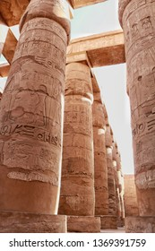 karnak Temple Complex, commonly known as Karnak, comprises a vast mix of decayed temples, chapels, pylons, and other buildings near Luxor, in Egypt.
