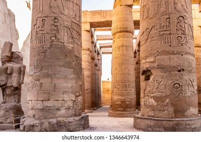 The Karnak Temple Complex in Luxor, commonly known as Karnak, comprises a vast mix of decayed temples, chapels, pylons, and other buildings in Luxor, Egypt