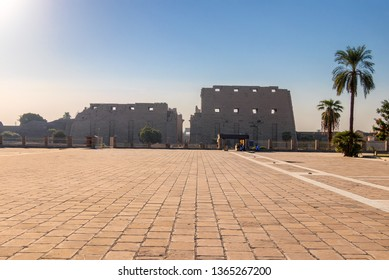 The Karnak Temple Complex in Luxor at sunrise, commonly known as Karnak, comprises a vast mix of decayed temples, chapels, pylons, and other buildings in Luxor, Egypt